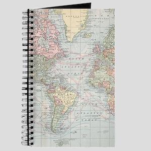 Antique world map notebooks cafepress vintage world map 1901 journal gumiabroncs Choice Image