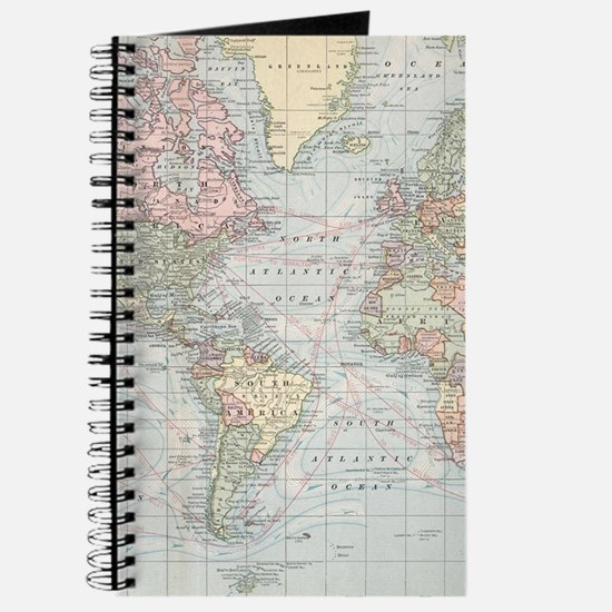 World map office supplies office decor stationery more vintage world map 1901 journal gumiabroncs Gallery