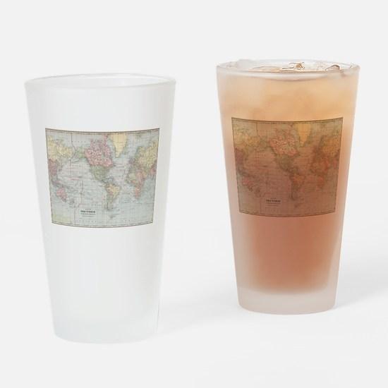 Vintage World Map (1901) Drinking Glass