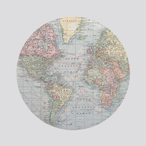 Vintage World Map (1901) Round Ornament