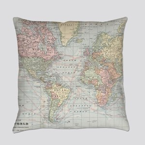 Vintage World Map (1901) Everyday Pillow