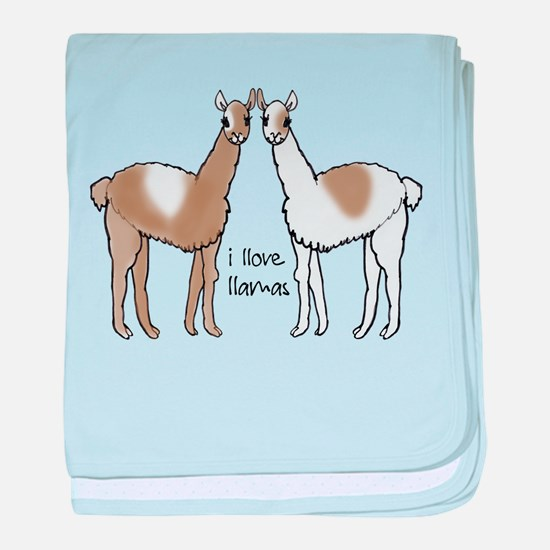 i llove llamas baby blanket
