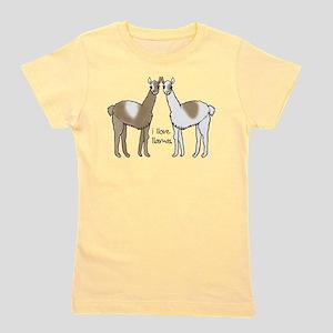 i llove llamas Girl's Tee