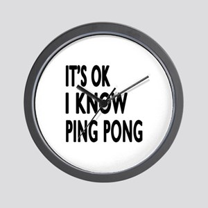 It Is Ok I Know Ping Pong Wall Clock