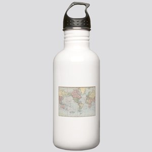 Vintage World Map (190 Stainless Water Bottle 1.0L