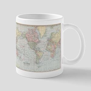 World map mugs cafepress vintage world map 1901 mugs gumiabroncs Image collections