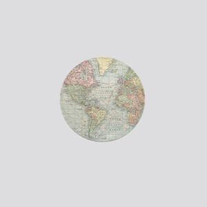 Vintage World Map (1901) Mini Button