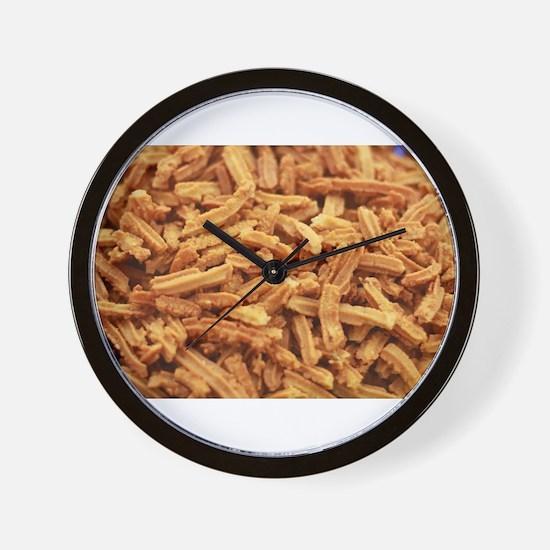 Crunchy Indian muruku snacks up close Wall Clock