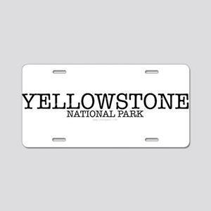Yellowstone National Park Y Aluminum License Plate