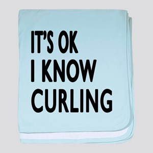 It Is Ok I Know Curling baby blanket