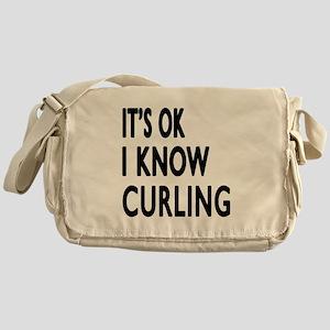 It Is Ok I Know Curling Messenger Bag