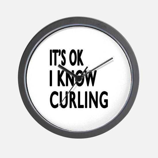 It Is Ok I Know Curling Wall Clock