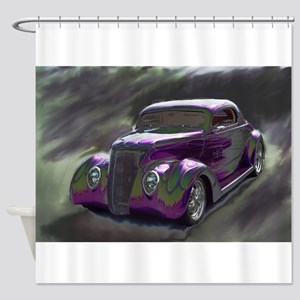 Classic & Exotic Cars - Hot Rod Sho Shower Curtain