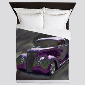 Classic & Exotic Cars - Hot Rod Shots Queen Duvet