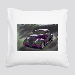 Classic & Exotic Cars - Hot R Square Canvas Pillow