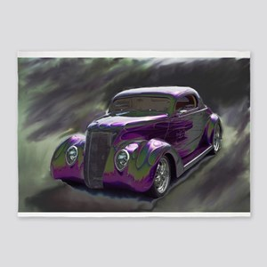 Classic & Exotic Cars - Hot Rod Sho 5'x7'Area Rug
