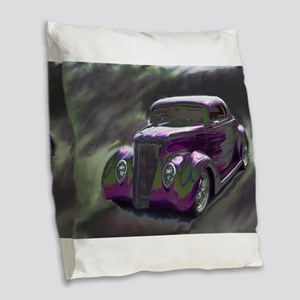 Classic & Exotic Cars - Hot Ro Burlap Throw Pillow