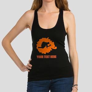Orange Paintball Player Splatter Racerback Tank To