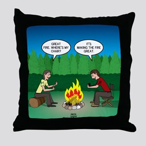 Great Campfire Throw Pillow