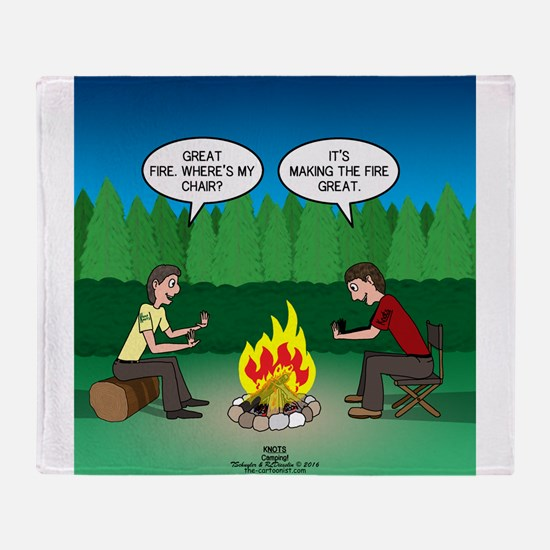 Great Campfire Throw Blanket