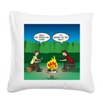 Great Campfire Square Canvas Pillow