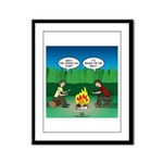Great Campfire Framed Panel Print