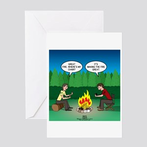 Great Campfire Greeting Card
