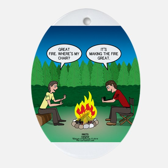 Great Campfire Oval Ornament