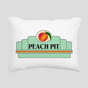 Peach Pit Rectangular Canvas Pillow