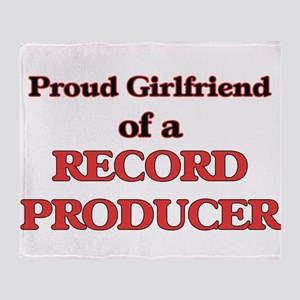 Proud Girlfriend of a Record Produce Throw Blanket