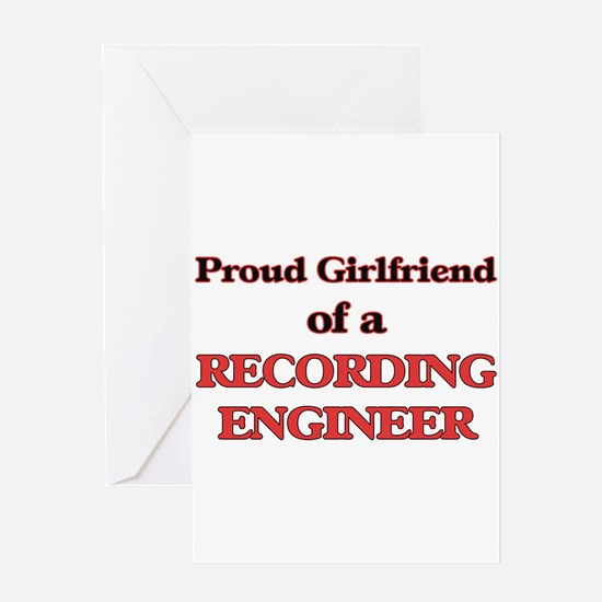 Proud Girlfriend of a Recording Eng Greeting Cards
