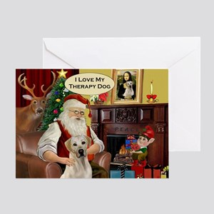Santa's Therapy Dog (Lab-Y) Greeting Card