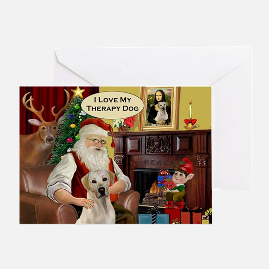 Santa's Therapy Dog (Lab-Y) Greeting Card
