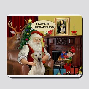 Santa's Therapy Dog (Lab-Y) Mousepad