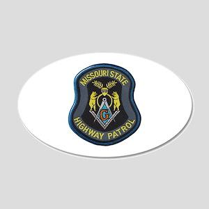 Missouri Highway Patrol Masonic Wall Decal
