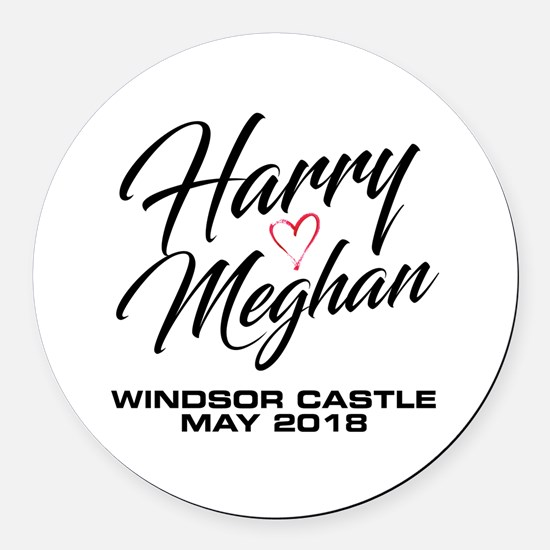 Cute Wedding Round Car Magnet