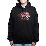 Derby Girl Red and Black Women's Hooded Sweatshirt