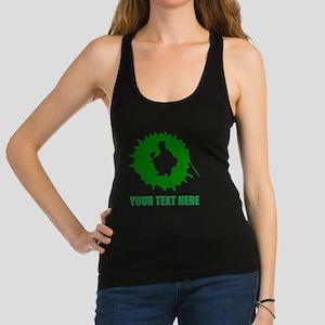 Green Paintball Player Splatter Racerback Tank Top