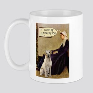 Mom's Therapy Dog (Lab-Y) Mug