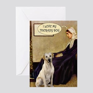Mom's Therapy Dog (Lab-Y) Greeting Card