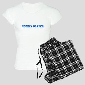 Hockey Player Blue Bold Design Pajamas