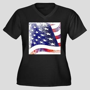 America Flag Plus Size T-Shirt