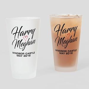 Harry Loves Meghan 2018 Drinking Glass