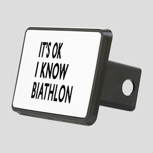 It Is Ok I Know Biathlon Rectangular Hitch Cover