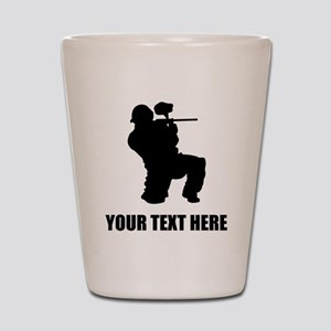 Paintball Player Silhouette Shot Glass