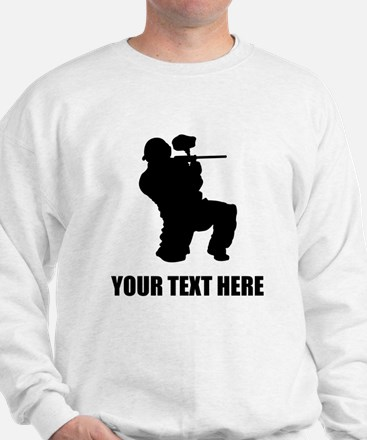 Paintball Player Silhouette Sweater