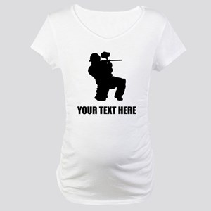 Paintball Player Silhouette Maternity T-Shirt