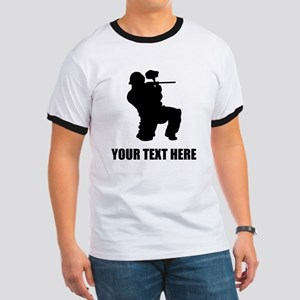 Paintball Player Silhouette T-Shirt