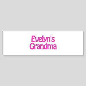 Evelyn's Grandma Bumper Sticker
