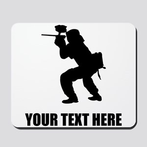 Paintball Player Silhouette Mousepad